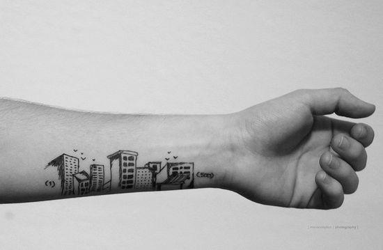 (500) Days Of Summer inspired tattoo design.
