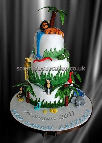 Safari Birthday Cake via Scrumptious Cakes