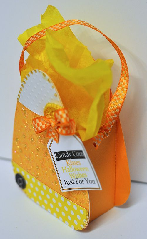 Candy corn treat box