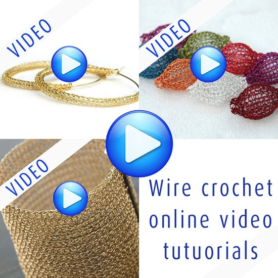 How to crochet wire jewelry online video patterns, buy 2 get one FREE