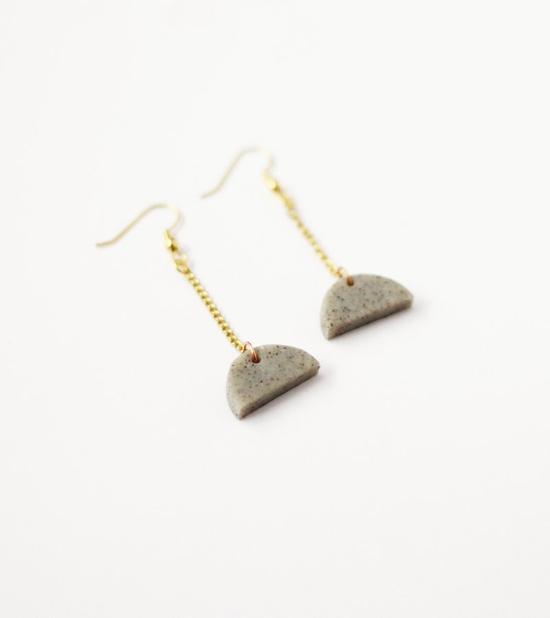 semi circle drop earrings by AMM Jewelry