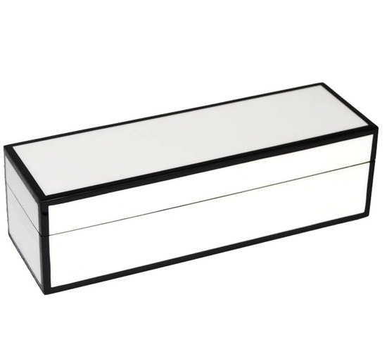 InStyle-Decor.com Beverly Hills Gift Boxed: Luxe White Lacquer Wine Box      Inspiring Interior Design Fans With Luxury Home Decor Ideas From Hollywood Enjoy & Happy Pinning