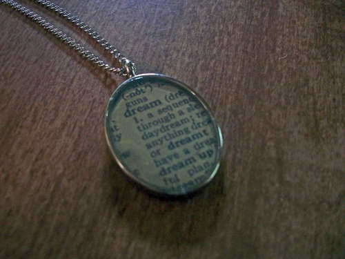 cute diy dictionary pendant