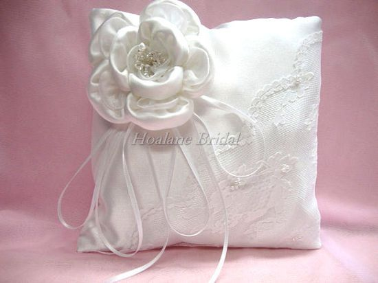 White Ring Pillow with #Swarovski Crystals White by Hoalanebridal, $39.00 #weddings #brides