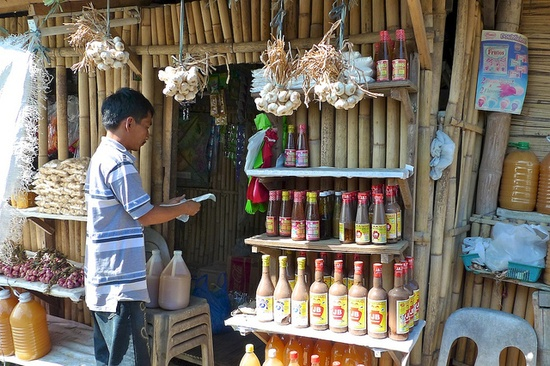 A road-side store in the northern Philippines.