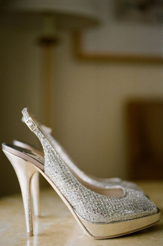 no matter what angle, these sparkling Jimmy Choos are bridal shoe perfection  Photography by tikkoweddings.com