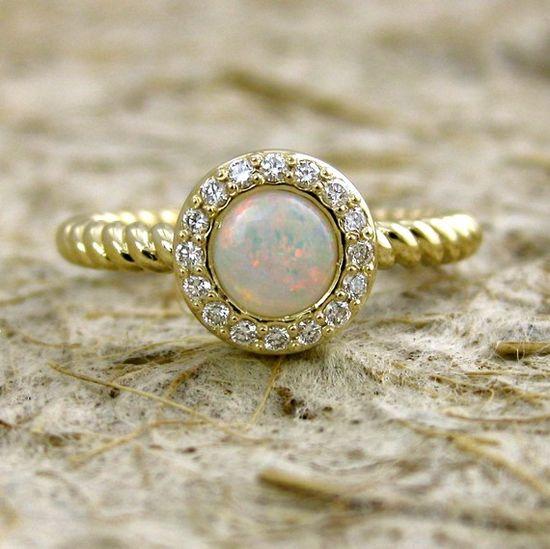 Opal/Diamond Ring