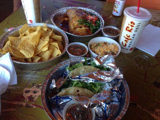 Taco Tuesday @ Cafe Rio! Handmade Tortillas so bomb.