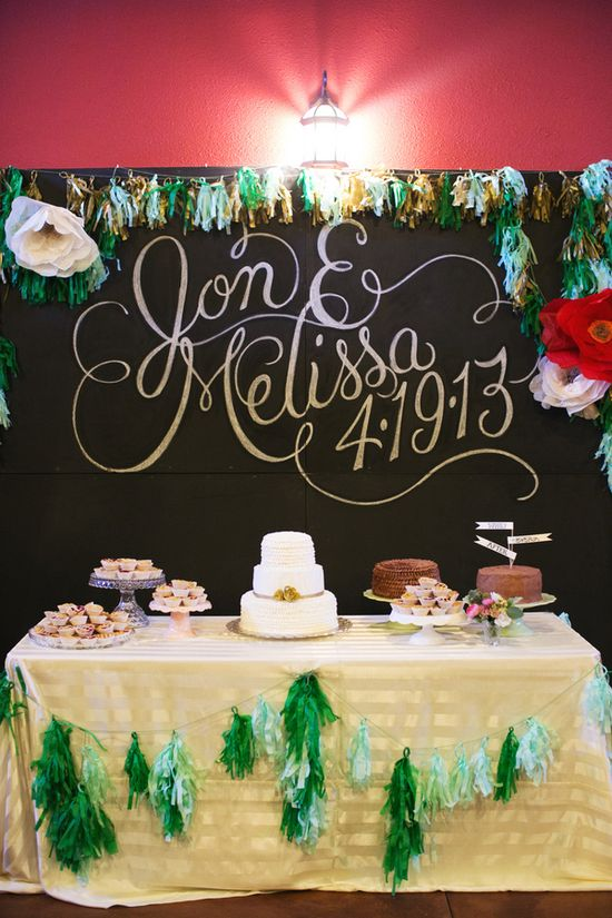 large + pretty names with wedding date // photo by EE Photo // View more: ruffledblog.com/...