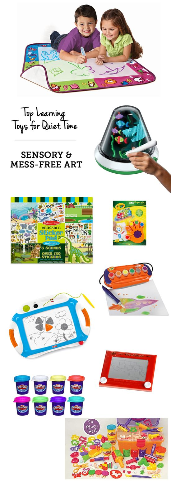 top learning toys for quiet time: mess-free art supplies