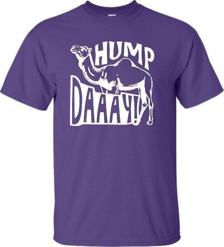 Small Purple Adult Hump Daaay! Camel Commercial Funny Hump Day T-Shirt
