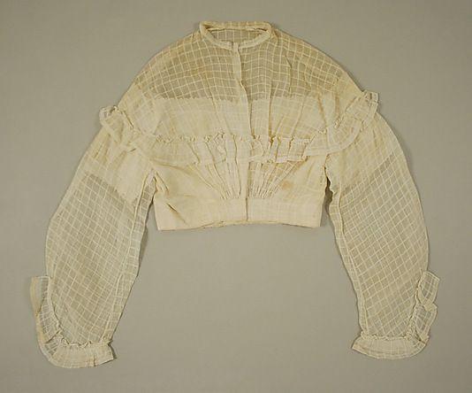 1860 Bodice    Date:      ca. 1860  Culture:      American or European  Medium:      cotton