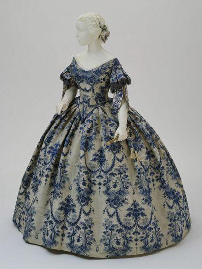 Evening Dress  1850-1855  The Philadelphia Museum of Art