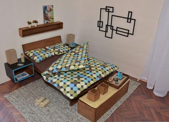 Barbie house furniture_handmade modern doll by FashionDollStore