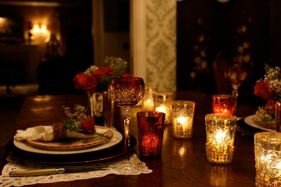 vignette design: Romantic Valentine Candlelight Dinner