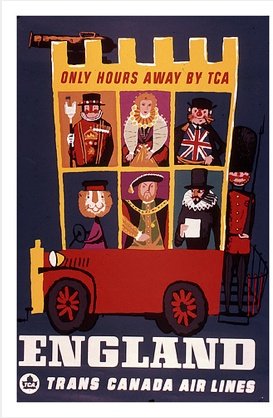 England--cute travel poster