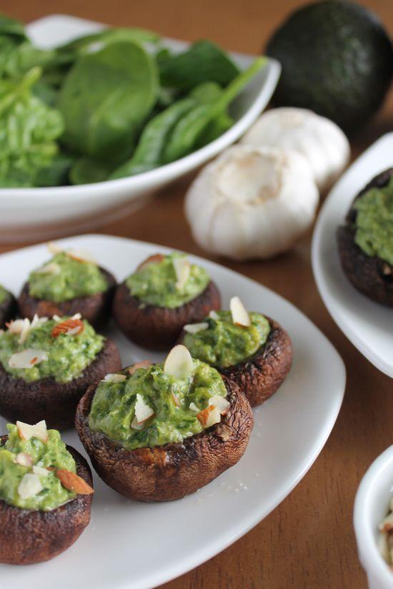 kale Avocado Stuffed Portobellos