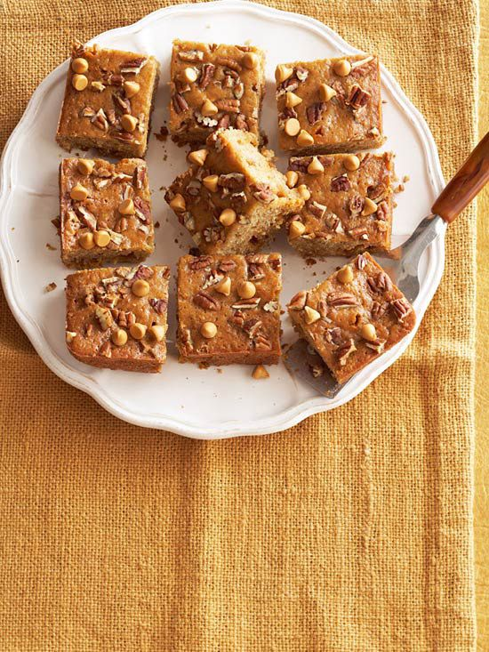 Butterscotch Chip Oatmeal Cake. I love butterscotch! More Fall Baking Recipes: www.bhg.com/...