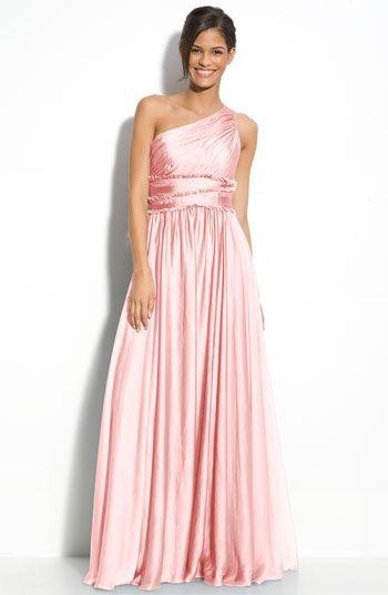 ML Monique Lhuillier Bridesmaids One Shoulder Chiffon Gown (Nordstrom Exclusive)
