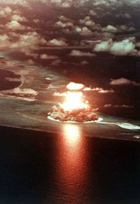 nuking some atoll.