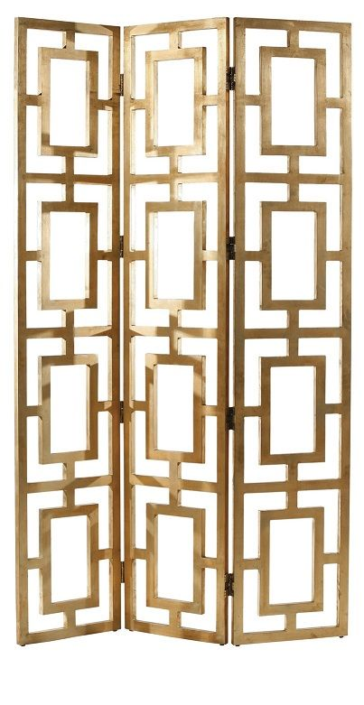 Gold Gilded Screen, so elegant, one of over 3,000 limited production interior design inspirations inc, furniture, lighting, mirrors, tabletop accents and gift ideas to enjoy repin and share at InStyle Decor Beverly Hills Hollywood Luxury Home Decor.