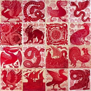 William De Morgan tiles: #floor design ideas #modern floor design #floor decorating before and after