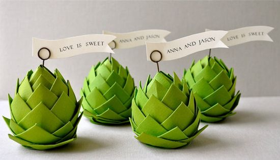 paper artichokes! Wow :) This shop has pretty paper creations for parties, gifts, or decoration.