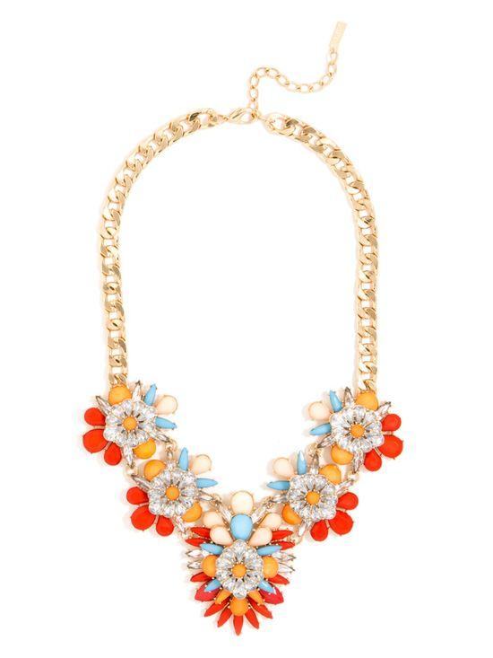 << birds of paradise bib necklace >>