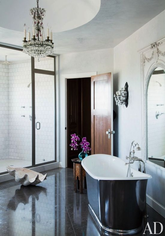 #Modern #bathroom #design with touches of #glam