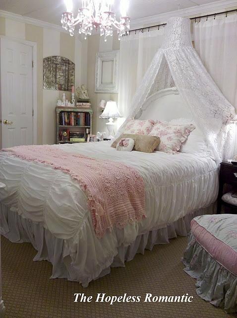 Bedroom:  A romantic bedroom.