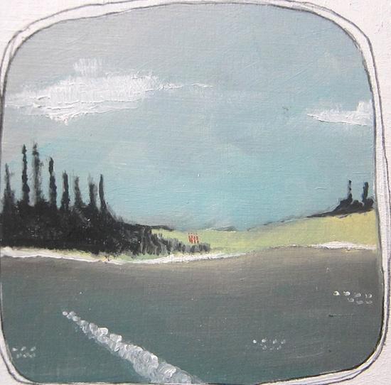 Landscape Oil Painting Oregon River Four Friends by michelemaule.