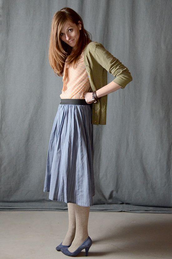 TUTORIAL: Flat Gathered Elastic Skirt