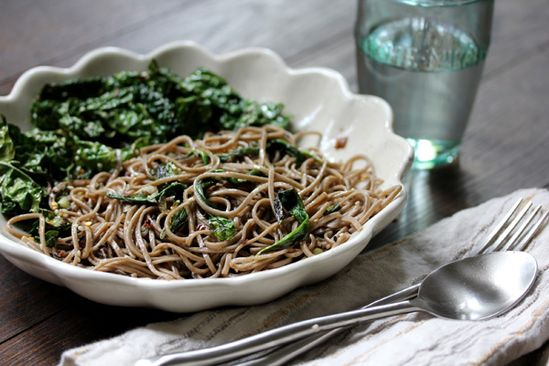 soba noodles with ramps & kale - what's cooking good looking - a healthy, seasonal, tasty food and recipe journal