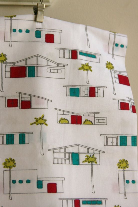 ORGANIC Houses by Monaluna's Circa 50 Collection by SewFineFabric, $15.00