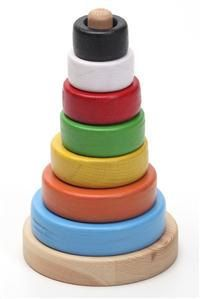 Handcrafted wooden ring tower, natural, organic wooden toys for kids