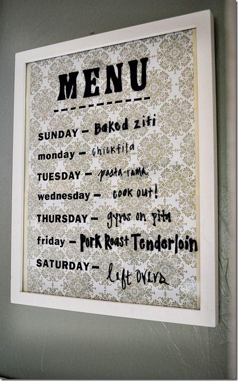 scrapbook paper menu