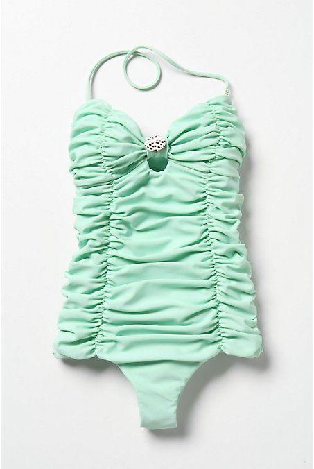 Vintage like bathing suit sold at Anthropologie #anthropologie #mint #bathingsuit #onepiece