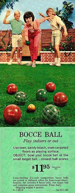 Bocce Ball at Sears [1950s]