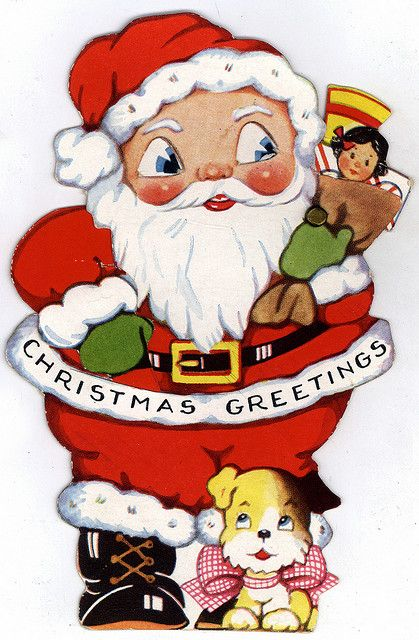 Oh Santa, What Big Blue Eyes You Have!