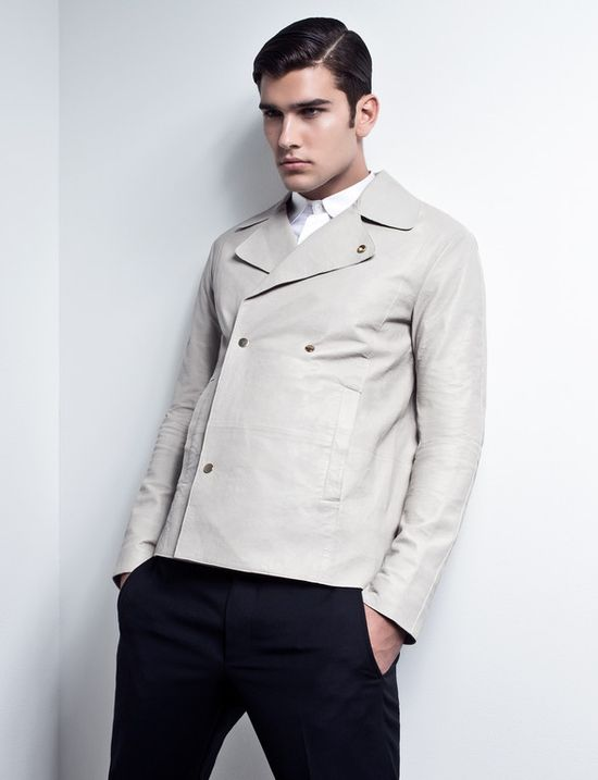 Emporio #Armani double-breasted leather jacket