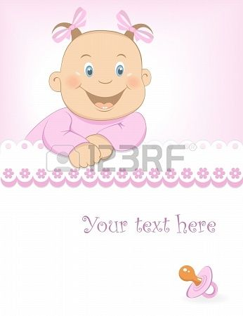 Baby girl arrival announcement Stock Photo - 16853801