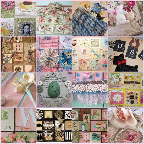 """Henny Holiday's """"bits & pieces"""" collage via holiday_jenny's photostream. Great inspirations."""