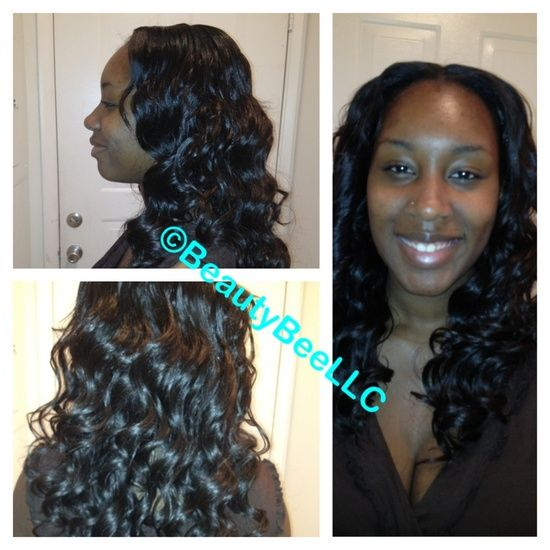 Sew in weave by