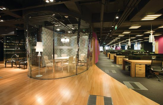 JWT office by M Moser Associates, Shanghai office design