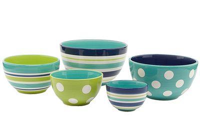 Oceana Dot & Stripe Bowls