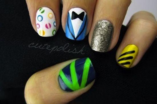 Gangnam style nail art