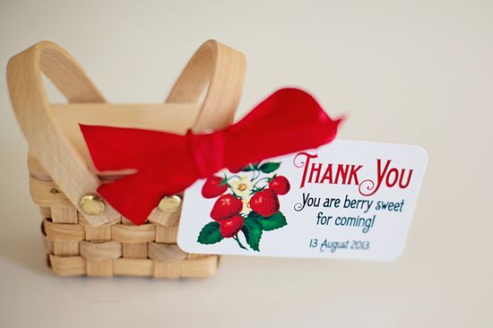 Favors at a Strawberry Party #strawberry #partyfavors