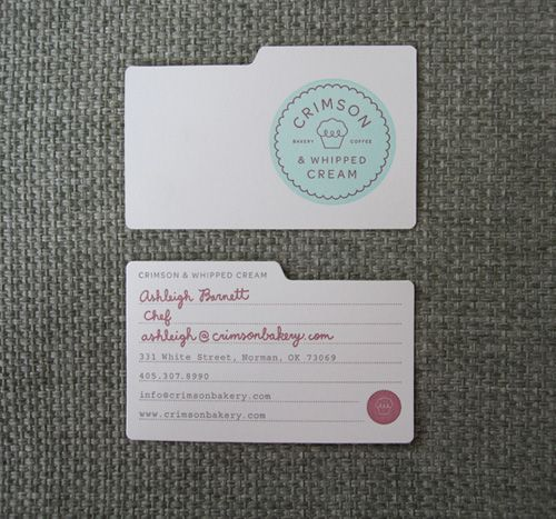Business Cards  / Crimson #cards