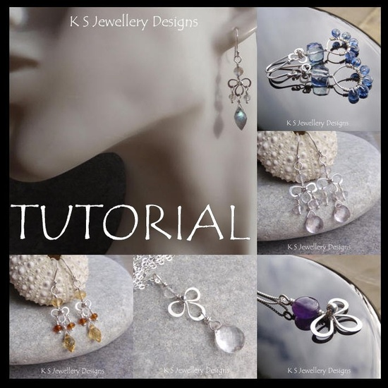 Wire Jewelry Tutorial - WIRE BLOSSOMS (Earrings and Pendants) - Step by Step Wire Wrapping Wirework Instructions. $5.00, via Etsy.