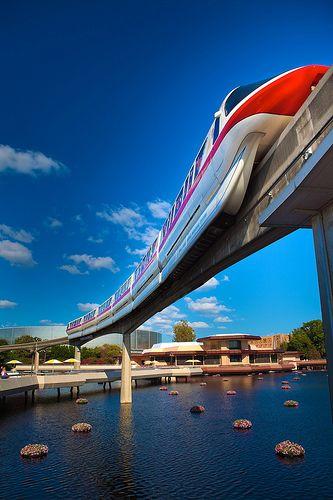 The Monorail at Disneyworld, Orlando, Florida